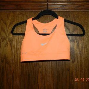 Women's Nike Orange Sports Bra